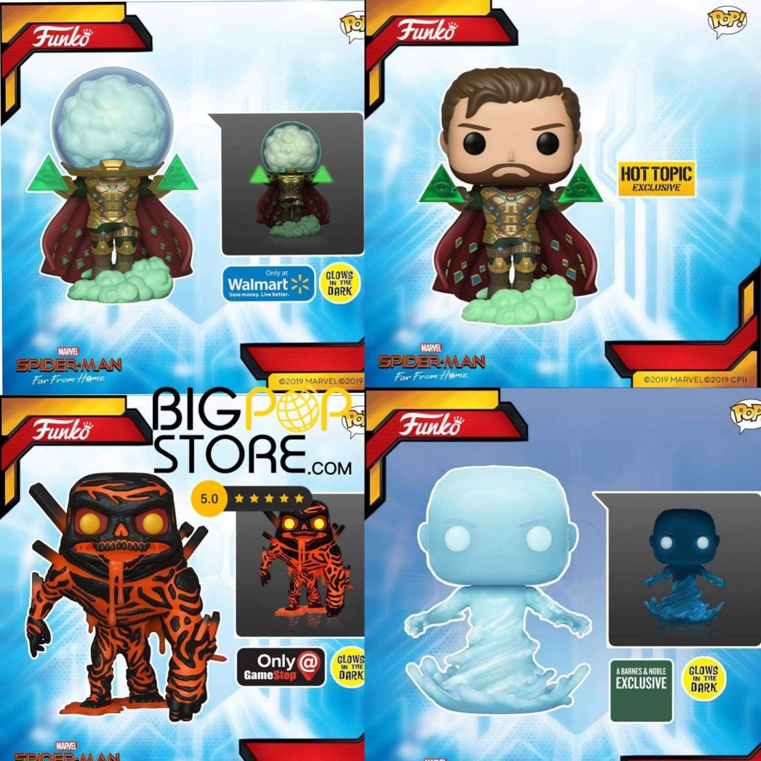 #funko first look at the upcoming #marvel #spiderman far from home #funkopops...