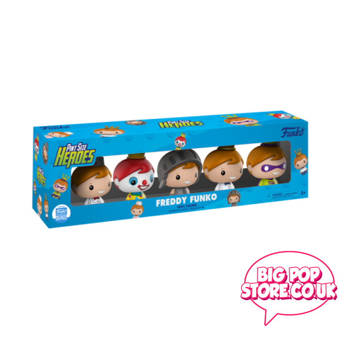 Funko - Freddy Exclusive 5 Pack Pint Size Heroes